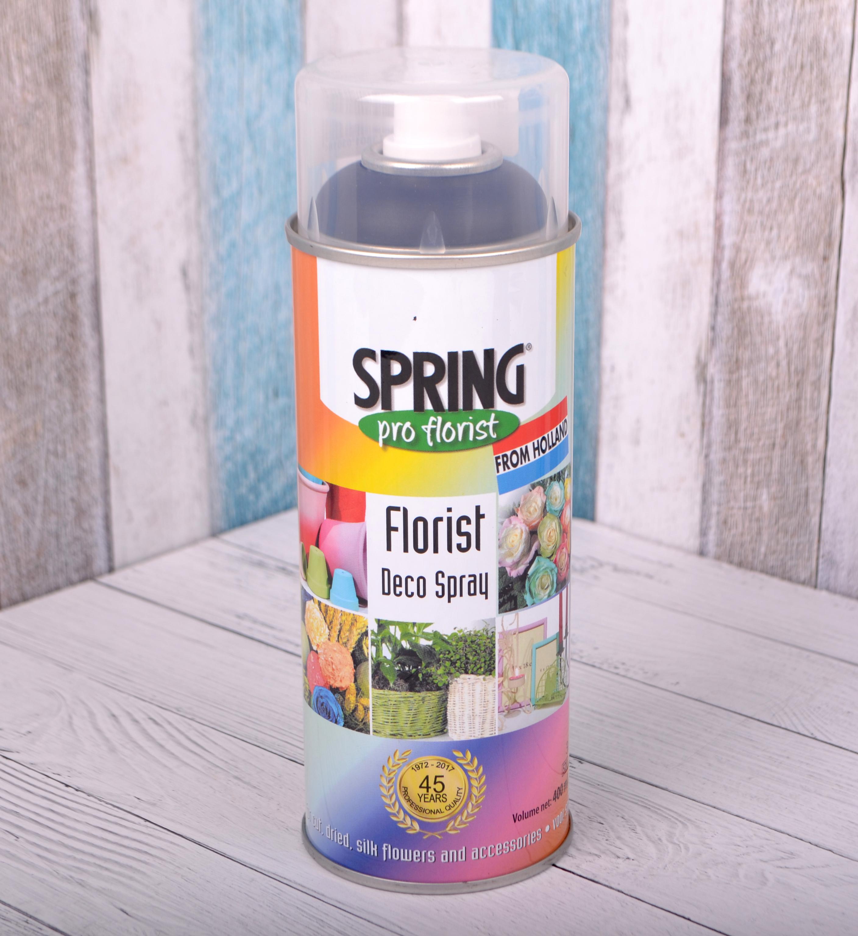 Краска-спрей для цветов 400 мл Spring Про флорист светло-черная