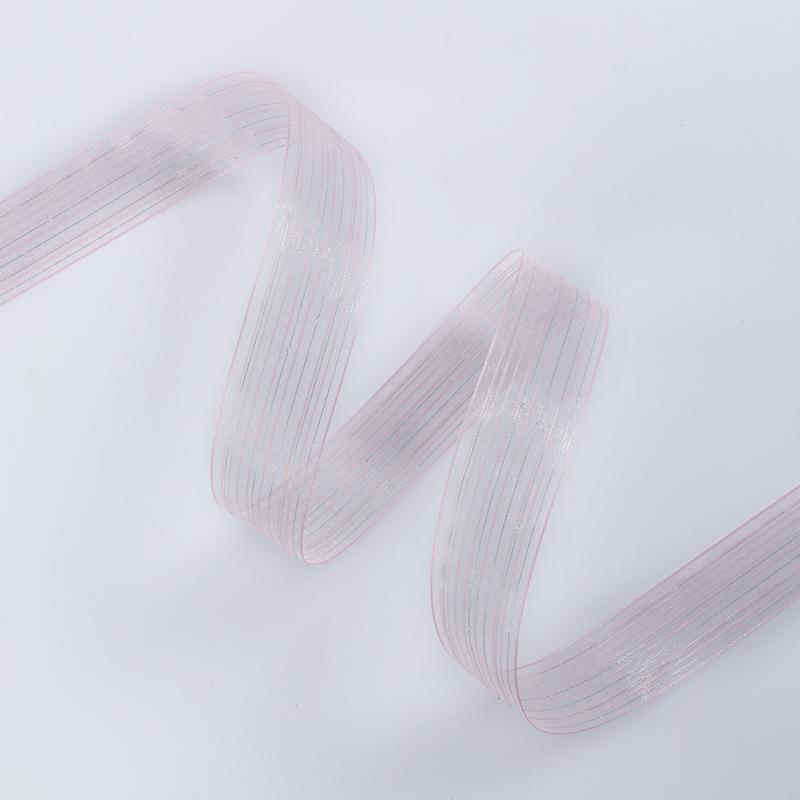 Лента рапсовая 2,6cм*20ярд, цвет розовый*