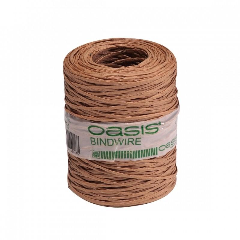 Проволока в бумажной оплетке Oasis 205 м х 0.4 mm. натуральная