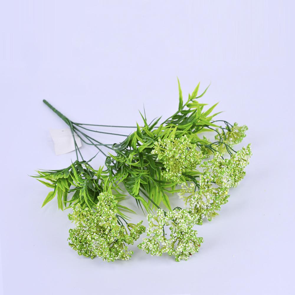 Искусственные цветы Пимпинелла 42см белая (ветка)
