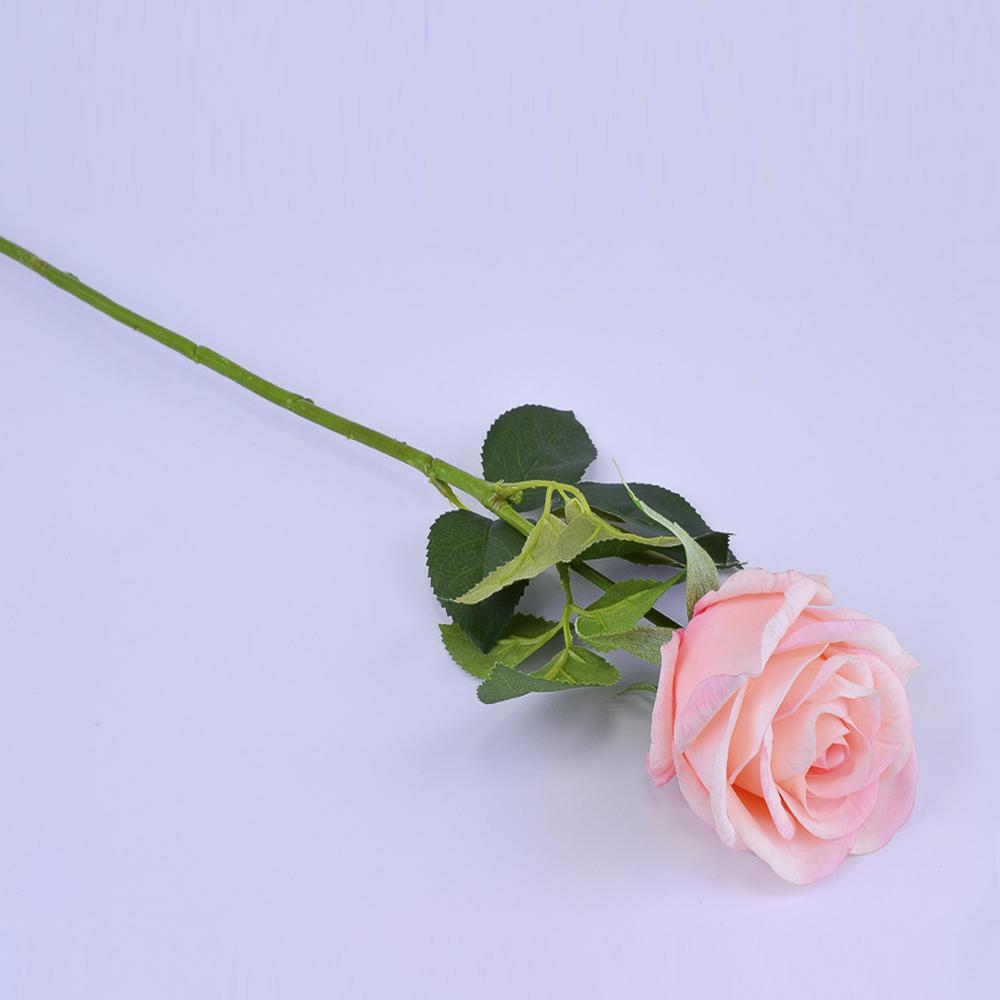 Искусственные цветы Роза Персиковая 73см