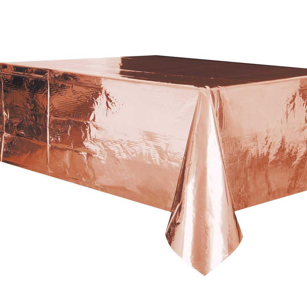 Скатерть фольга Розовое золото 137х182см/G
