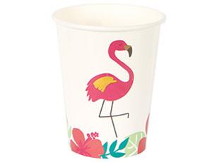 Стакан бум ALOHA Фламинго 250мл 8шт
