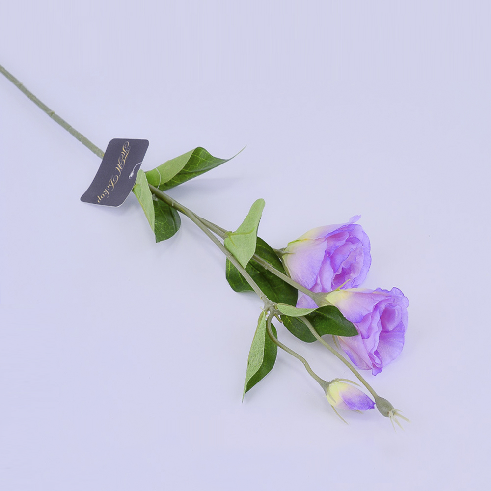 Искусственные цветы Эустома Сиреневая 67см (ветка)