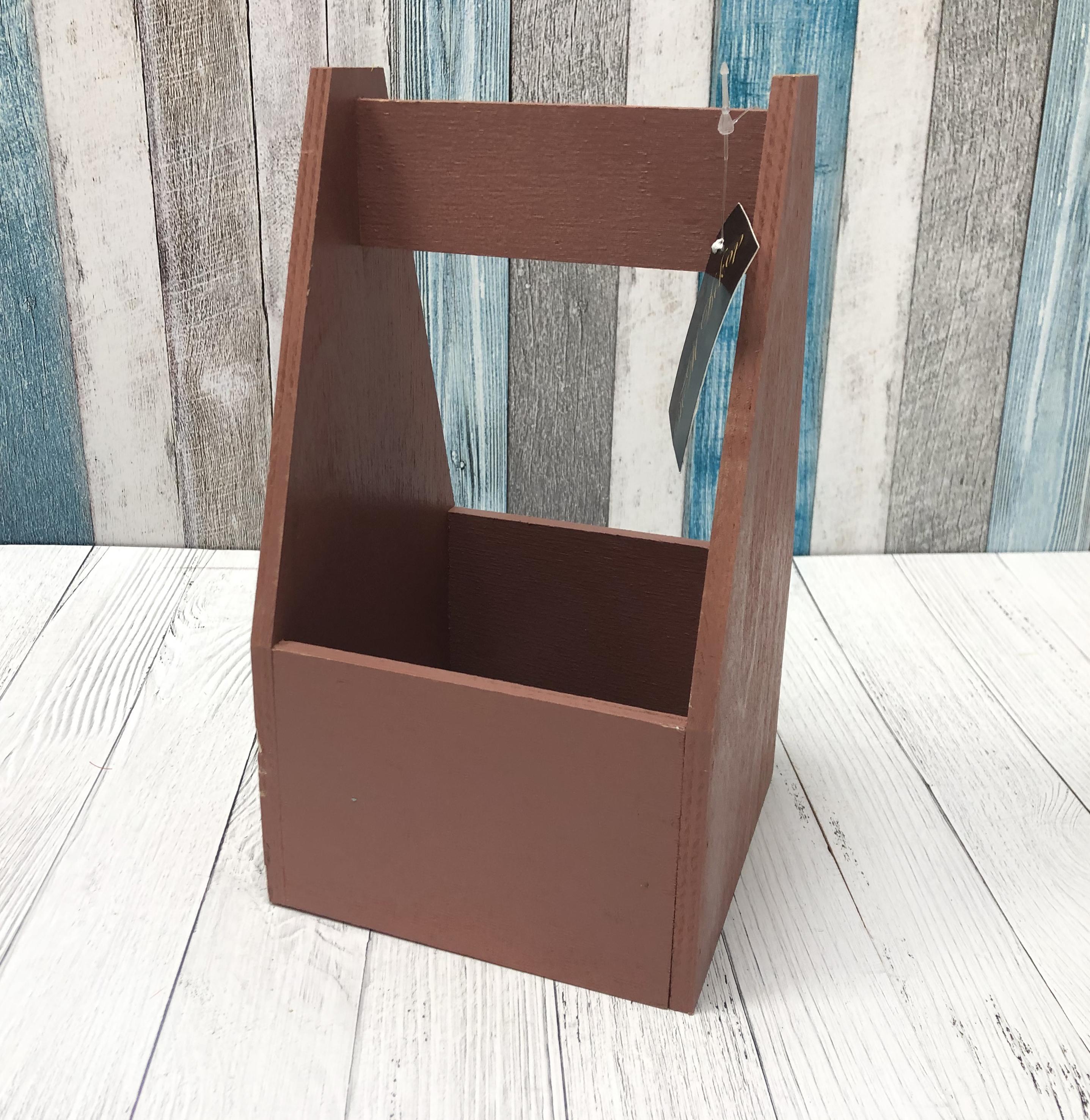Декоративные ящики (ф) №4 (145*145*h235) (коричневый)