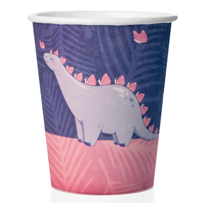 Стаканы (250 мл) Сегодня Твой День! (влюбленные динозавры) 6 шт