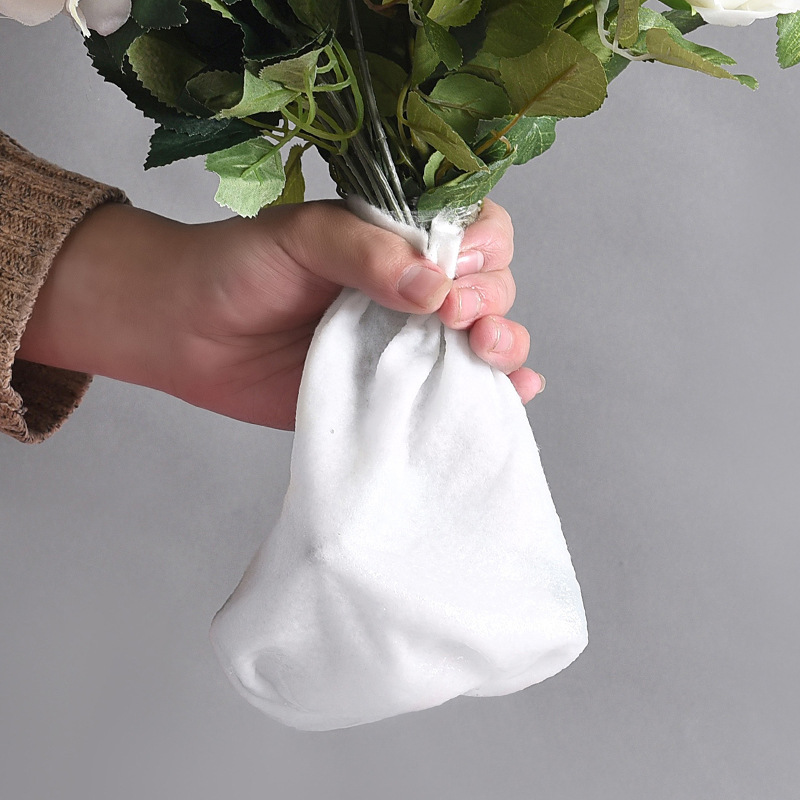 Хлопковый пакет для транспортировки срезанных цветов, рулон 25см*3м