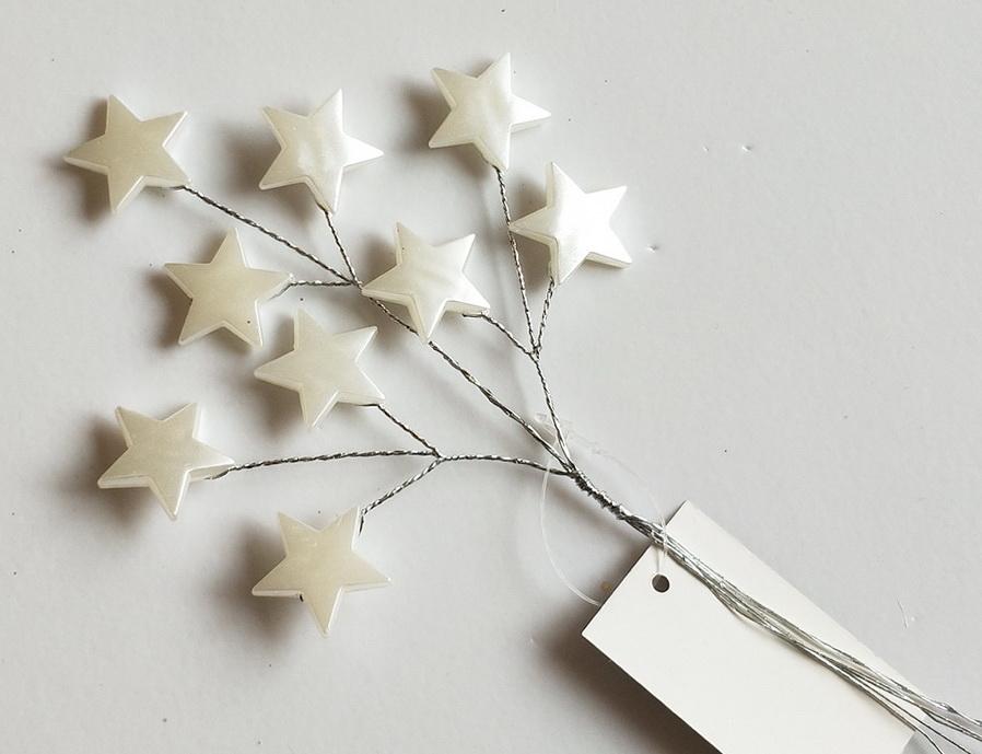 Вставка со звёздами Белая 20см