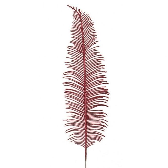 Ветка искусственная Пёрышко Красная 80 см