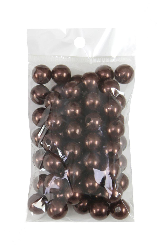 Бусинки 12мм Шоколадный №80 (SF-1445) 50гр