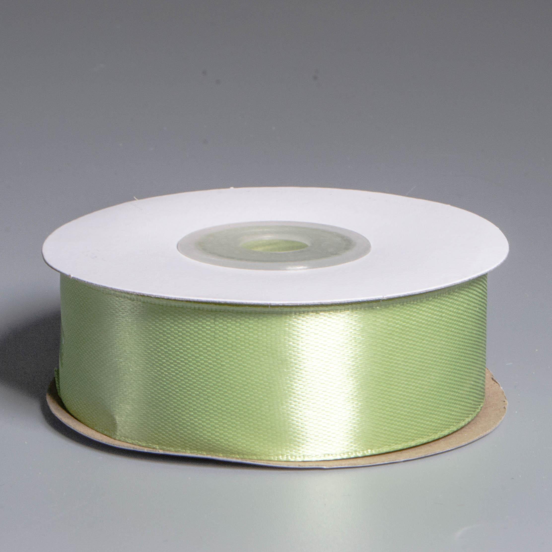 Лента атласная 2.5см*22.85м 111 Бледно - зеленая