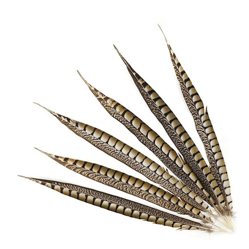 Перья фазана длинные Натуральный цвет 35-40 см / 2 шт. /