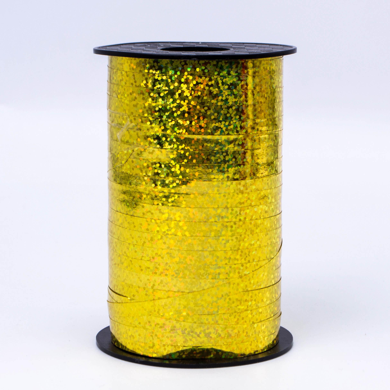 Лента метализированная Золото Голография 5мм*250м