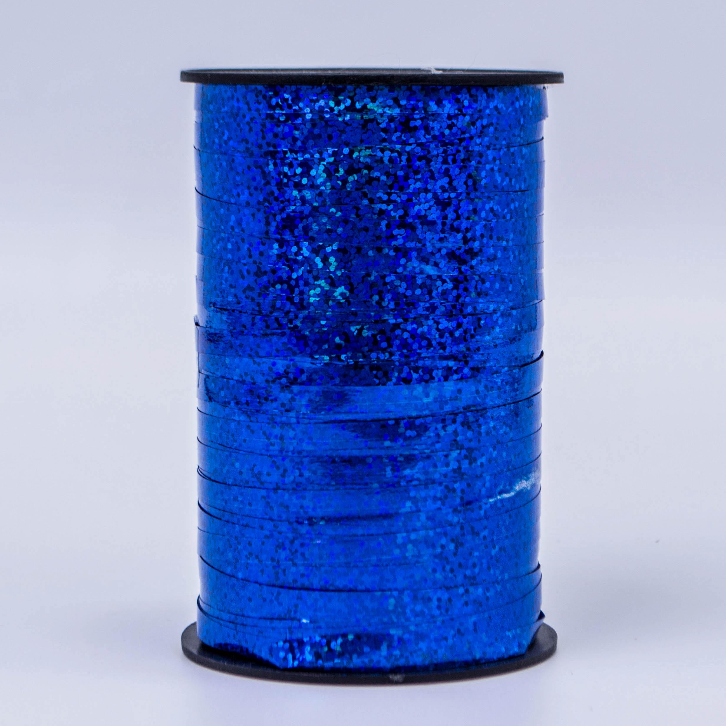 Лента метализированная Синий Голография 5мм*250м