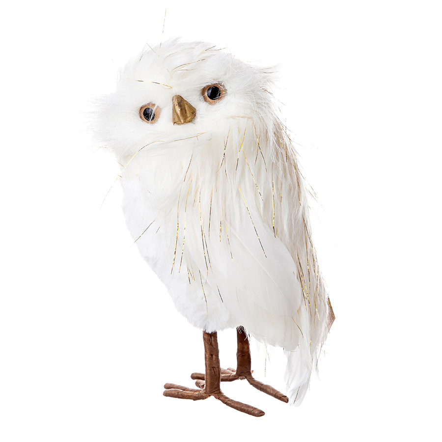 Фигура Сова 23*14 см Белая