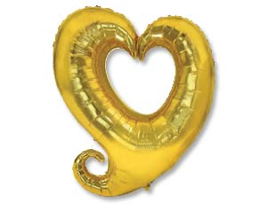 FM 32 Сердце Вензель Gold