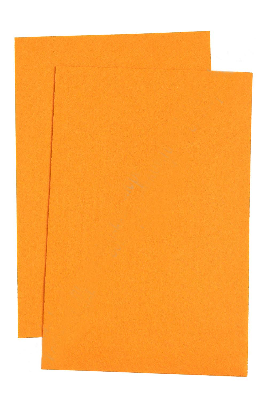 Фетр жесткий Оранжевый 1 мм (10 листов) SF-1943 №022