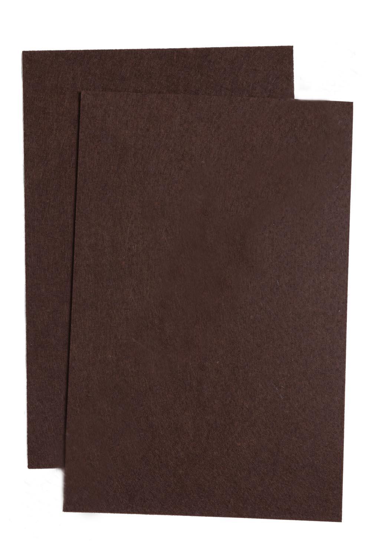 Фетр жесткий Шоколадный 1 мм (10 листов) SF-1943 №067