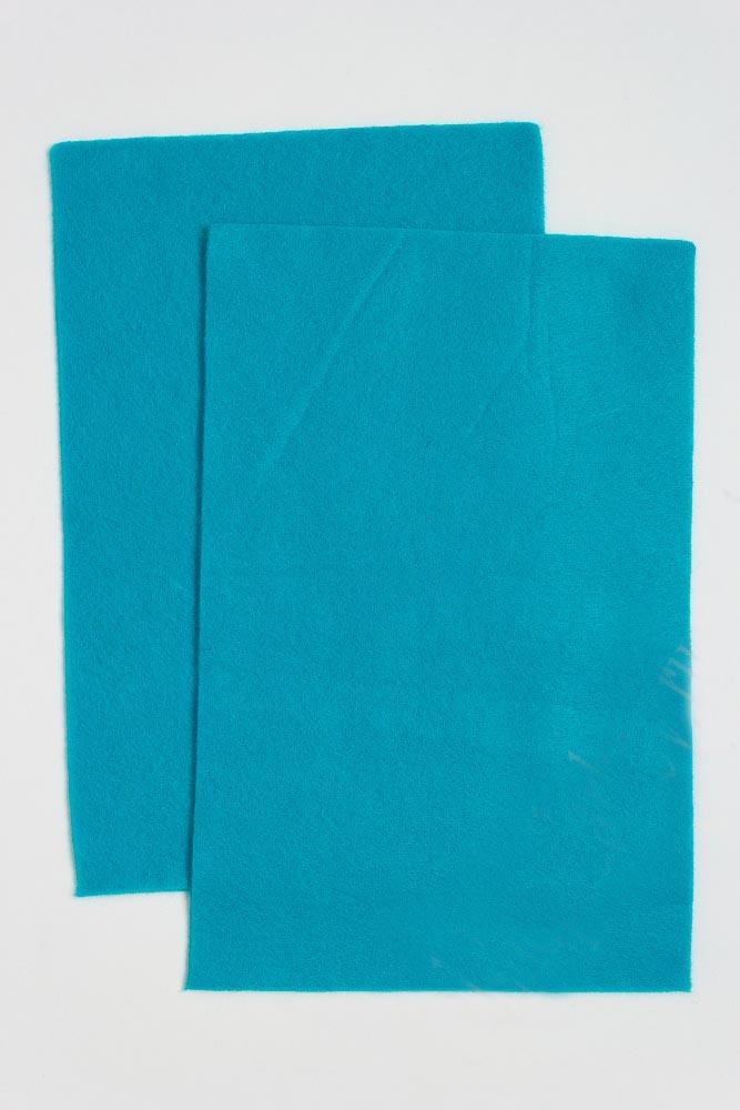 Фетр мягкий Бирюзовый 1 мм (10 листов) SF-1945 №012