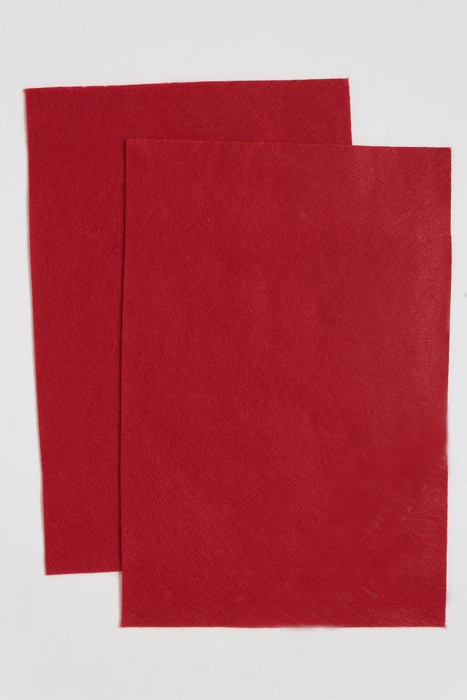 Фетр мягкий Тёмно-красный 1 мм (10 листов) SF-1945