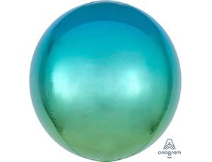 А 3D СФЕРА Б/РИС 16 Омбре Зелено-голуб