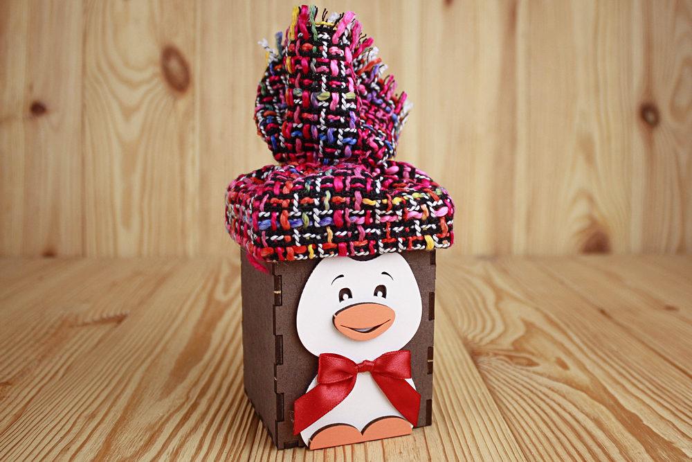 Подарочная упаковка Пингвин 9*9*14.5