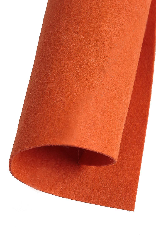 Фетр жесткий Тёмно-оранжевый 2 мм (10 листов) SF-1944