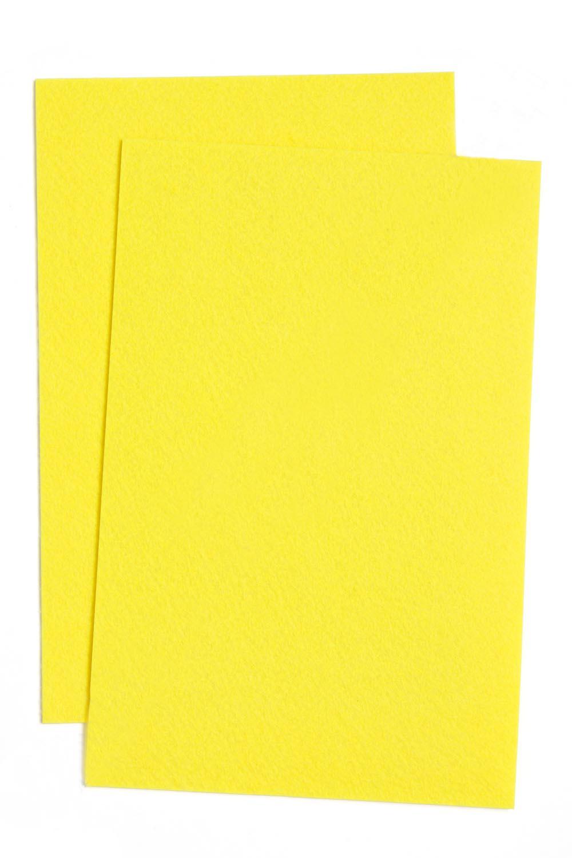 Фетр жесткий Ярко-жёлтый 1 мм (10 листов) SF-1943 №013
