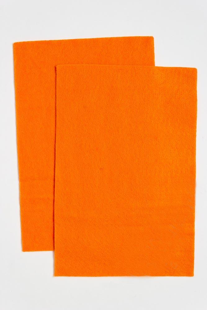 Фетр мягкий Оранжевый 1 мм (10 листов) SF-1945 №05