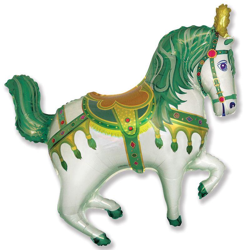 Цирковая лошадь (зеленый) мини