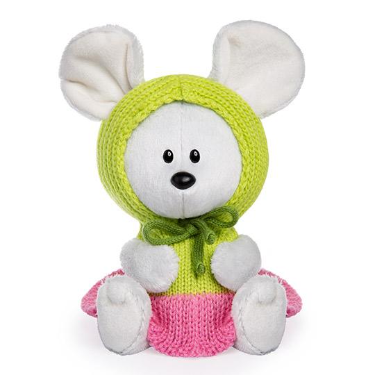 LE15-081 Мышка Пшоня в платье с капюшоном 15 см