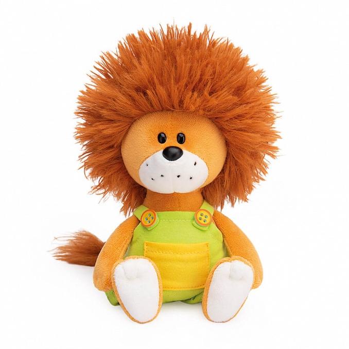 SA15-40 Львёнок Лью в комбинезоне с желтыми пуговицами 15 см