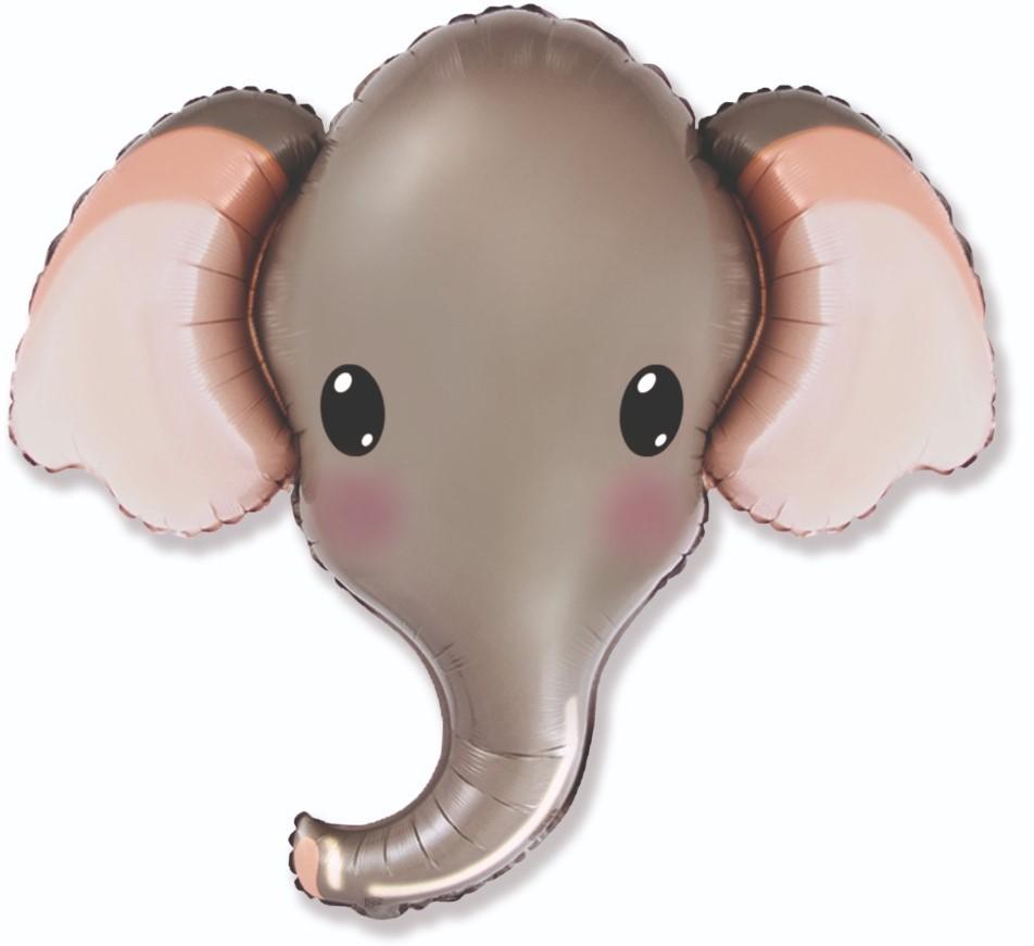 Голова Милый слоник Серый Фигура