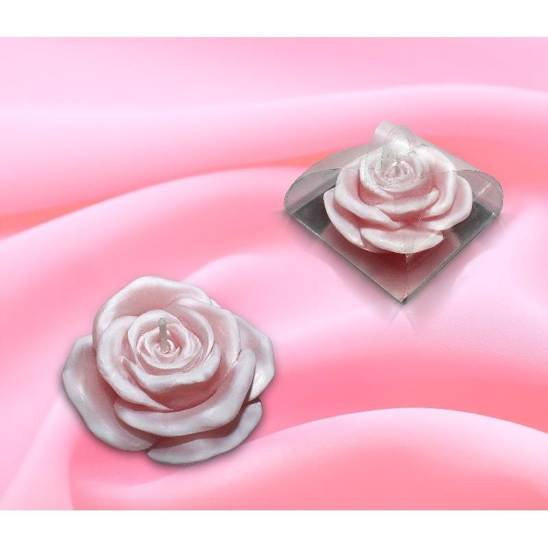 Свеча Роза розовая ОСЗ