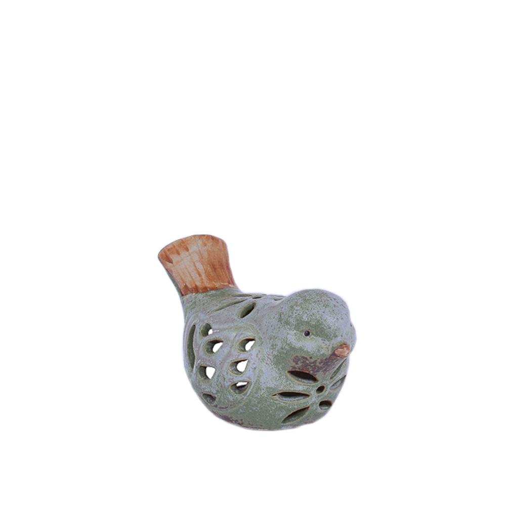 Фигура Птичка с цветами (керамика) 17см S16044 ТМ24