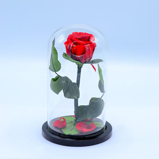 Роза в колбе (Большая) 29см