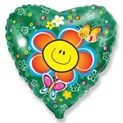 FM 18 Сердце Цветок Зеленый