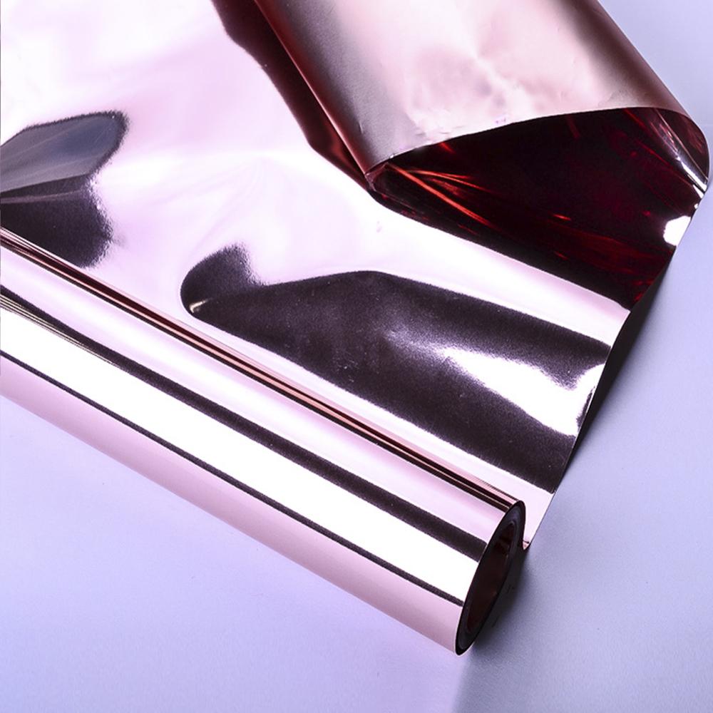 Пленка матовая двусторонняя Электрик 59см 10м Розовое золото 06