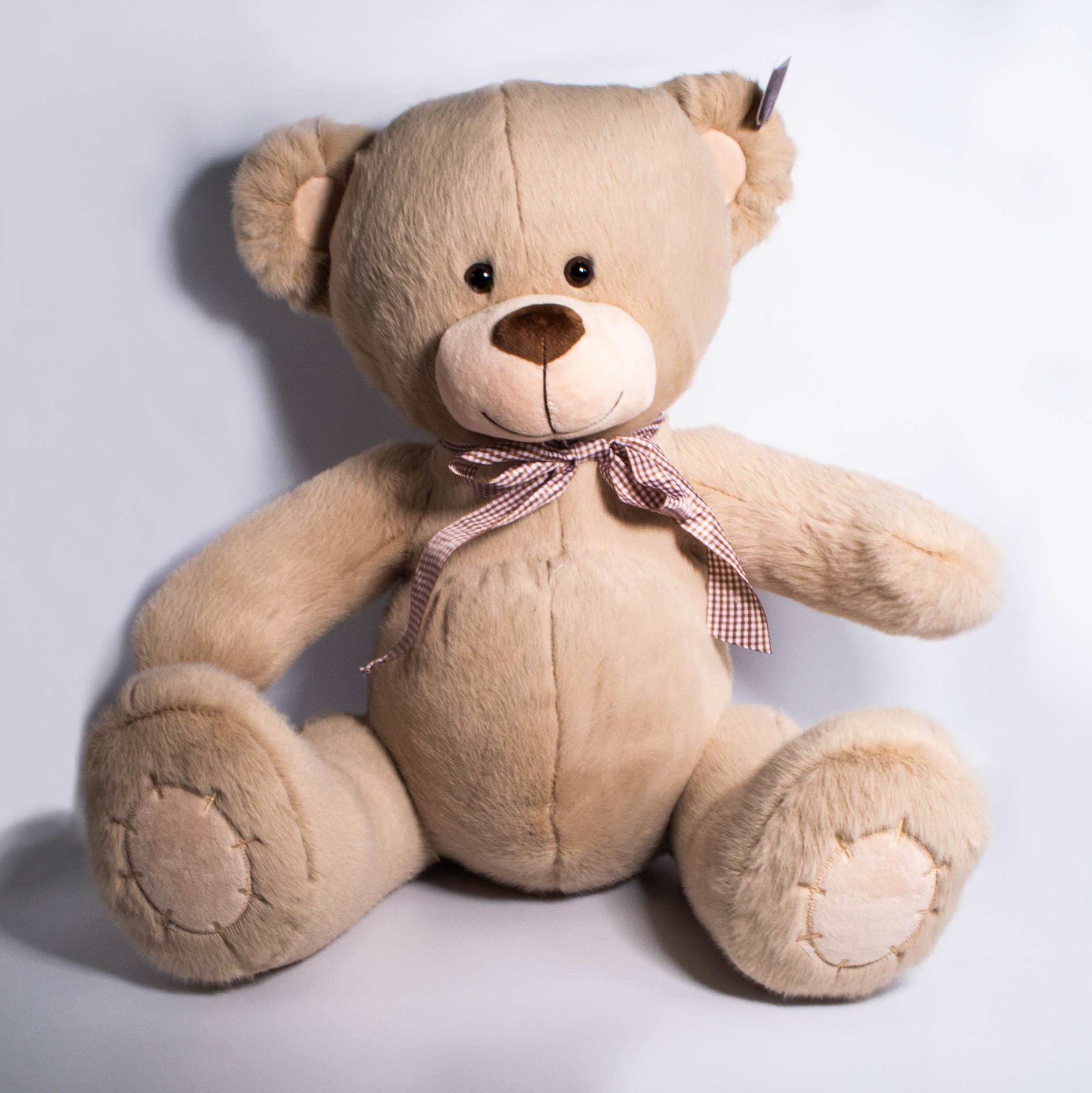 Медведь с бантом 3 цвета 38см