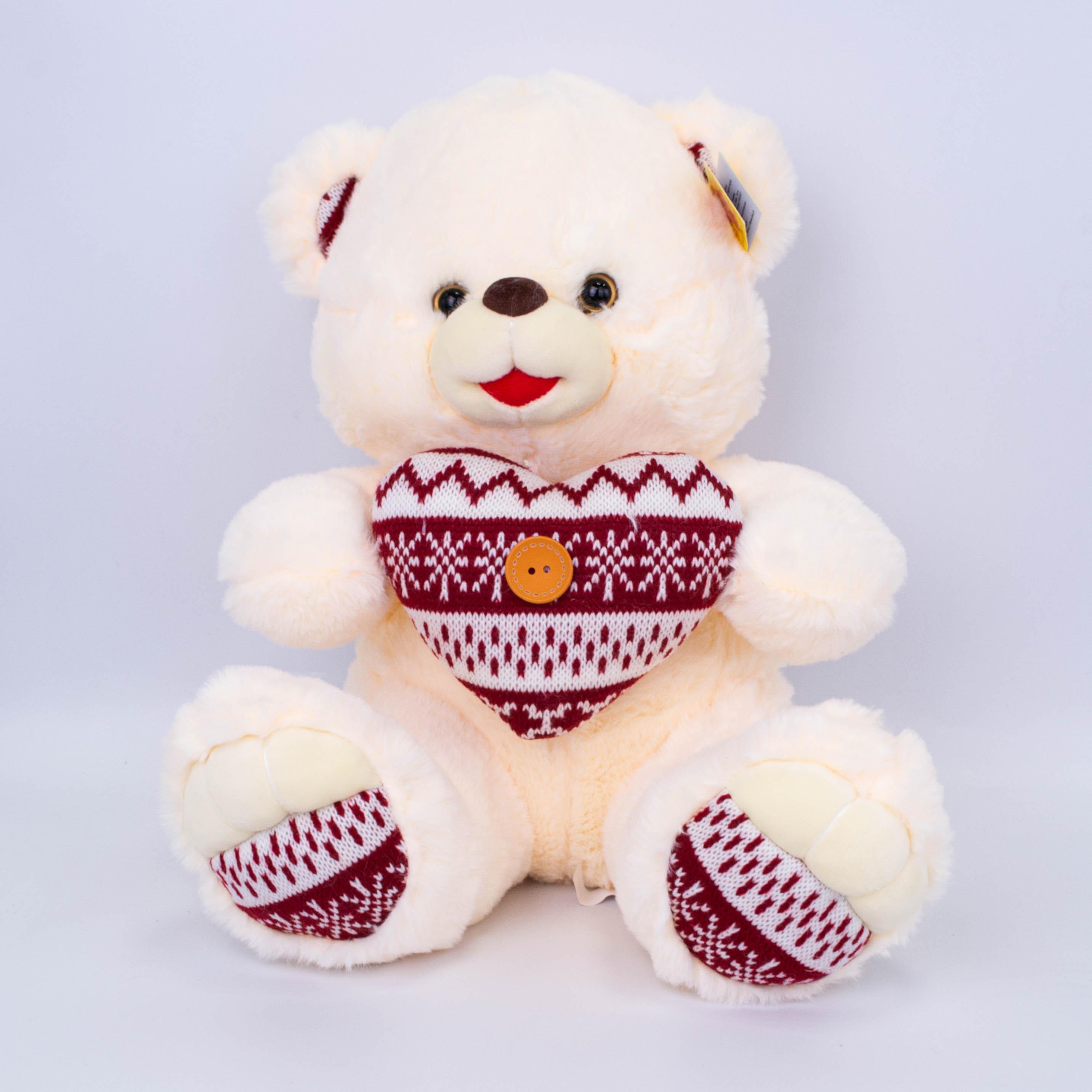 Медведь с сердцем 32см