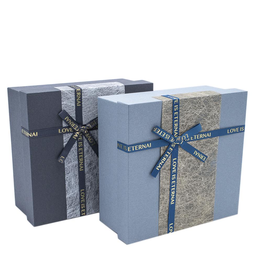 Набор подарочных коробок из 3шт квадрат 19*19*8