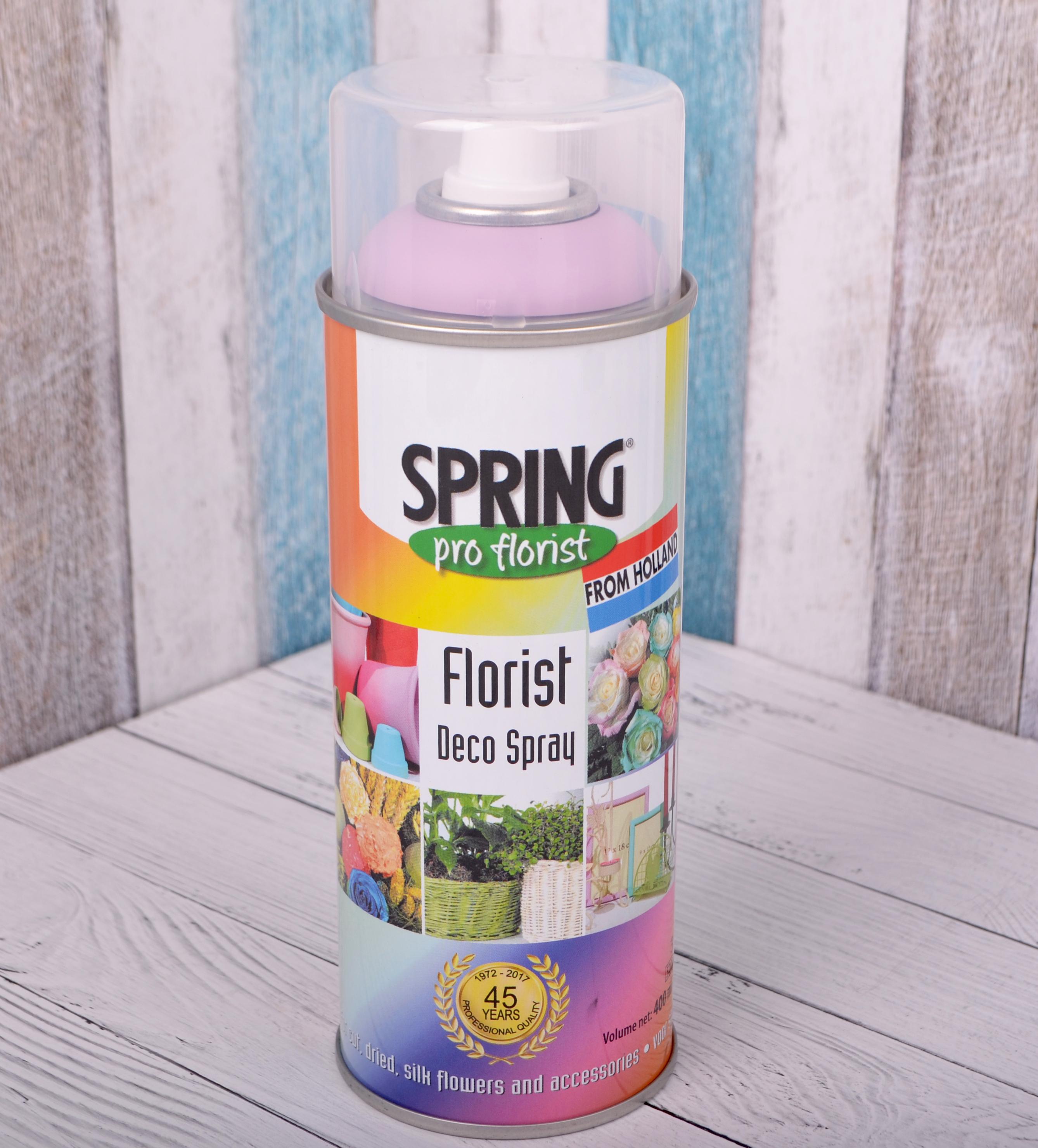 Краска-спрей для цветов 400 мл Spring Про флорист св.сиреневая