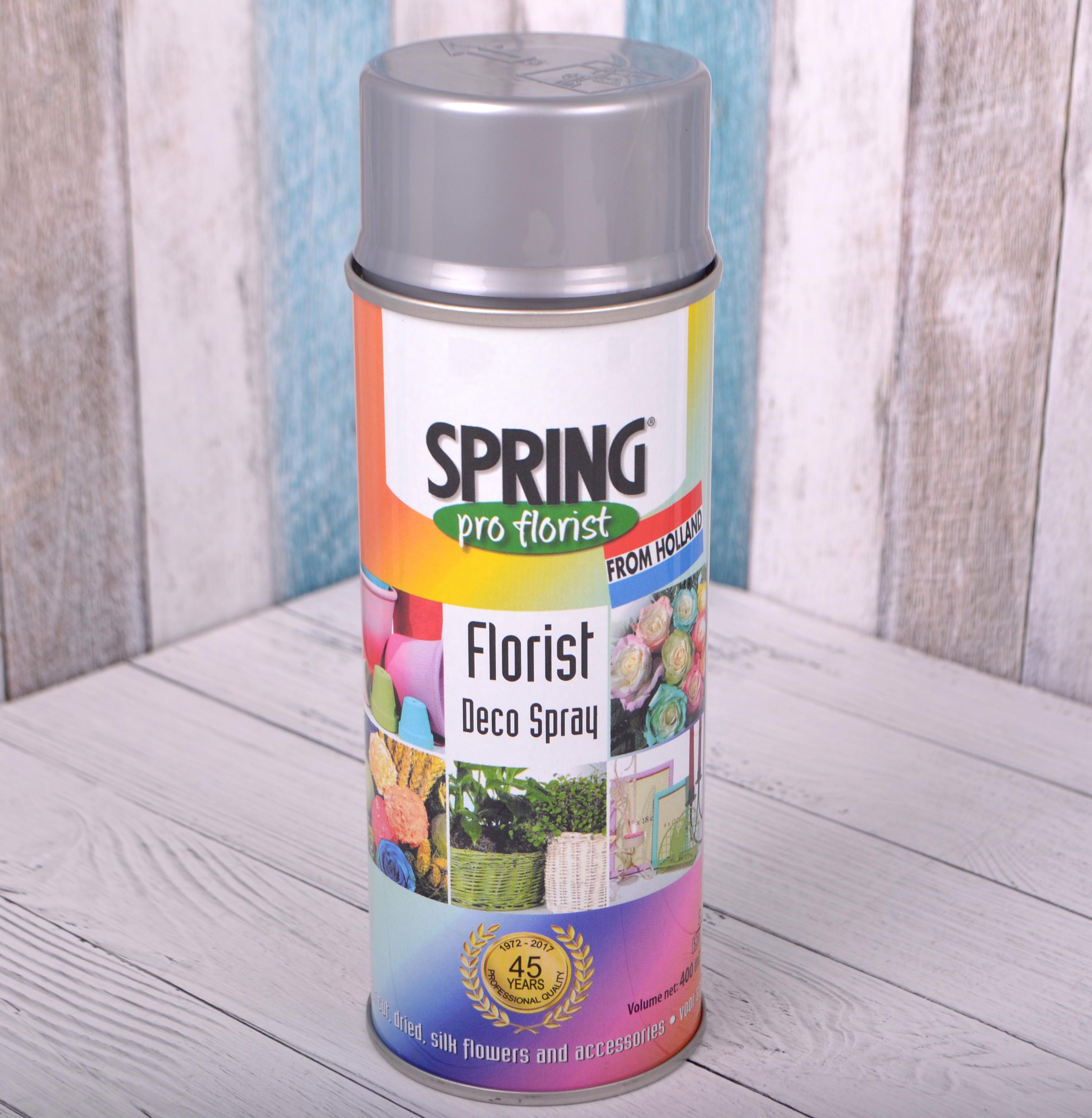 Краска-спрей для цветов 400 мл Spring Про флорист серебряная