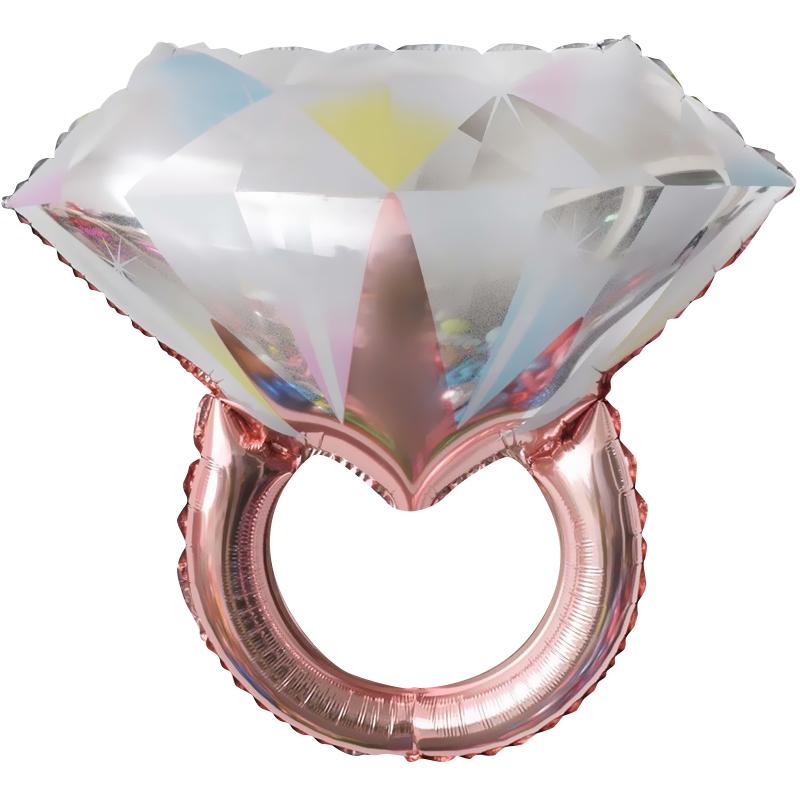Фигура Кольцо с бриллиантом Розовое Золото Falali