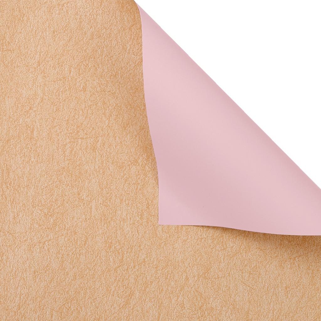 Пленка матовая двусторонняя, 60см*60см, 20 листов, цвет розовый*