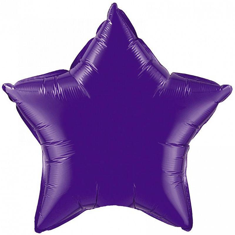 Шар (32/81 см) Звезда Фиолетовый FLEXMETAL/1