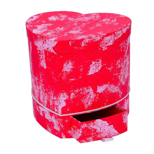 Подарочная коробка Сердце 23.8x20.8x21cm Красная тм16