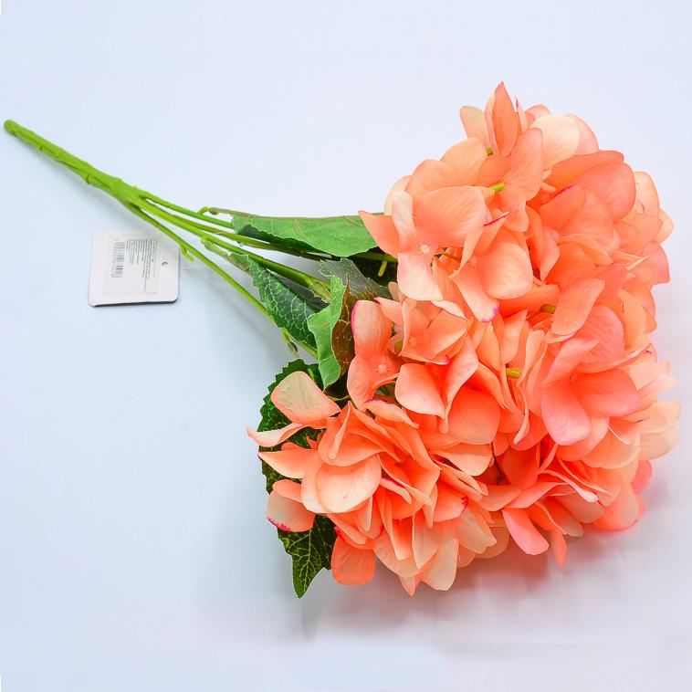 Интерьерные цветы гортензия персиковая 45см 5г