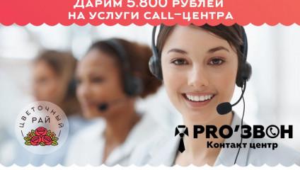Спонсорская акция от компании ProЗвон