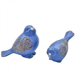 Набор Фигур Птички 12см; 8.5см (керамика) VQ1976 2шт